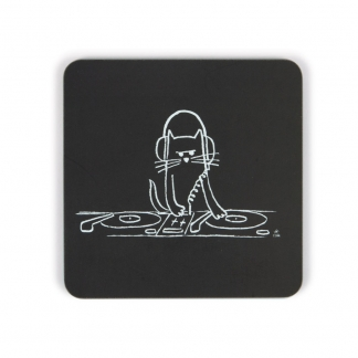 Cat DJ Coaster