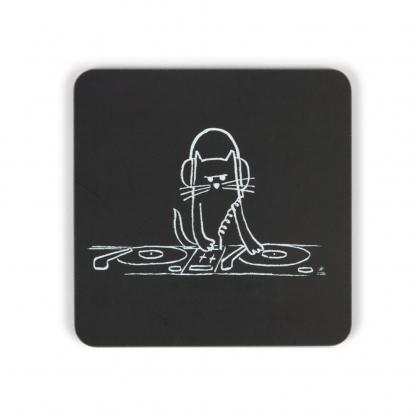 Cat DJ Coaster